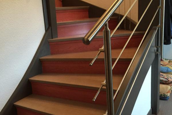 Pose escaliers bois Hégenheim