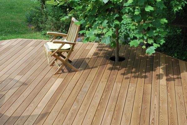 Pose terrasse Hésingue Bois Thermo chauffé